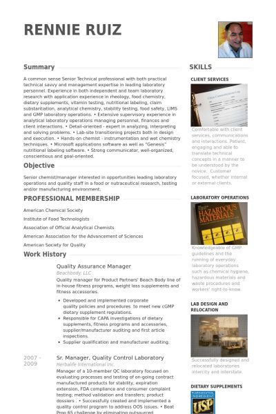 Quality Assurance Resume samples - VisualCV resume samples database