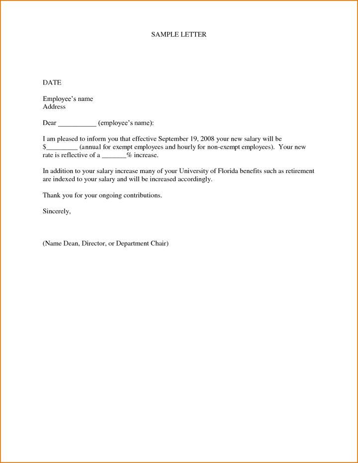 pay raise letter samples