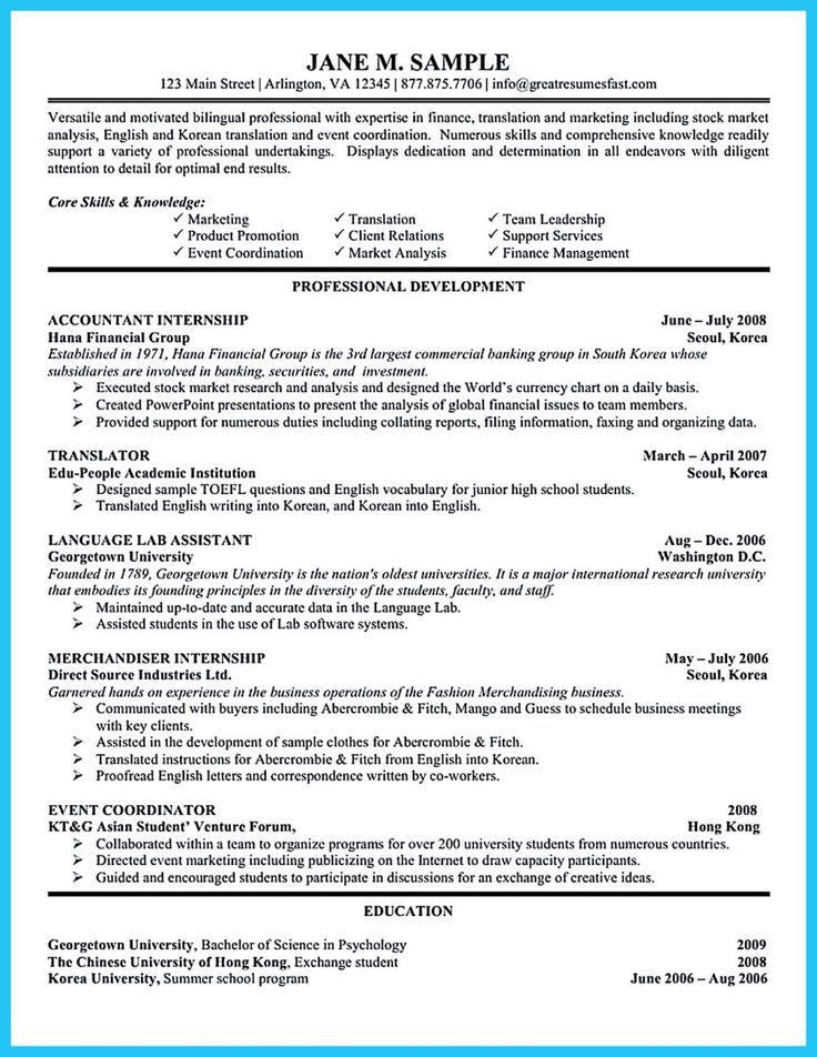 65 best sample resume download images on Pinterest | Sample resume ...