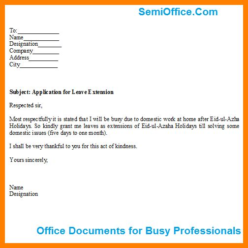 11+ annual leave letter format for office | job resumed