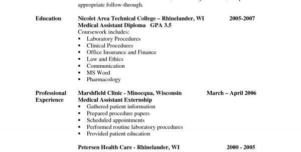 medical assistant externship resumes