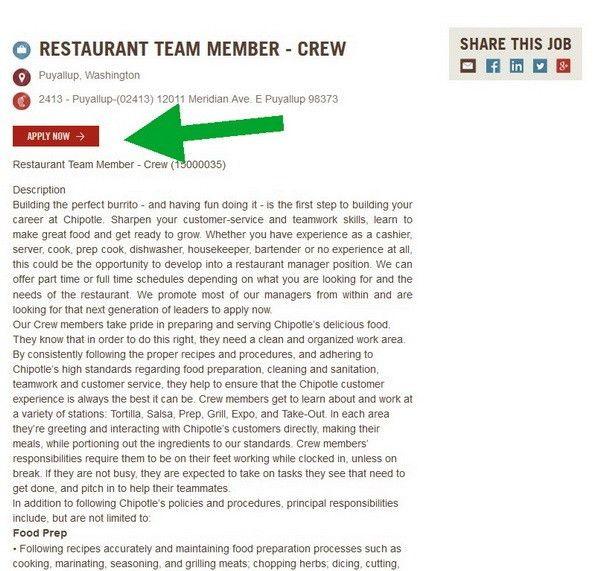 Chipotle Career Guide – Chipotle Job Application | Job Application ...
