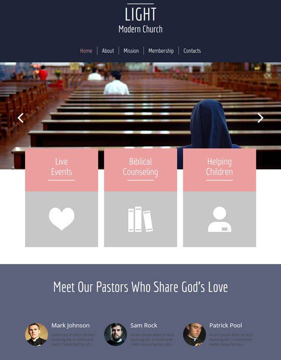 30+ Best Church Website Templates Free & Premium - freshDesignweb