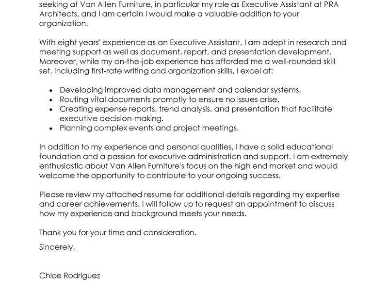 Classy Idea Standard Cover Letter 12 Best Executive Assistant ...