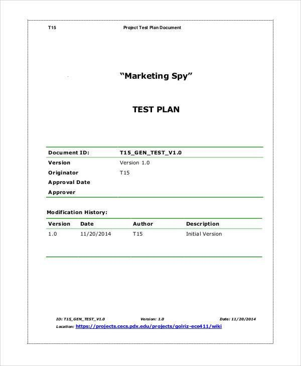 10+ Simple Test Plan Templates -Free Sample, Example Format ...