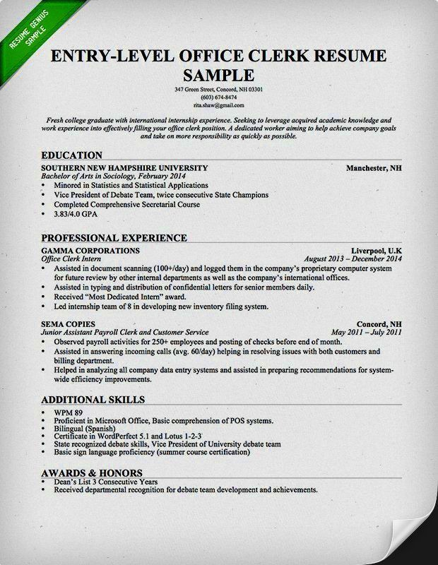 Resume Template For Administrative Assistant Free - Contegri.com