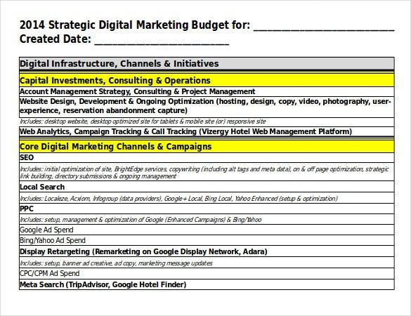 15+ Digital Marketing Strategy Templates – Free Sample, Example ...