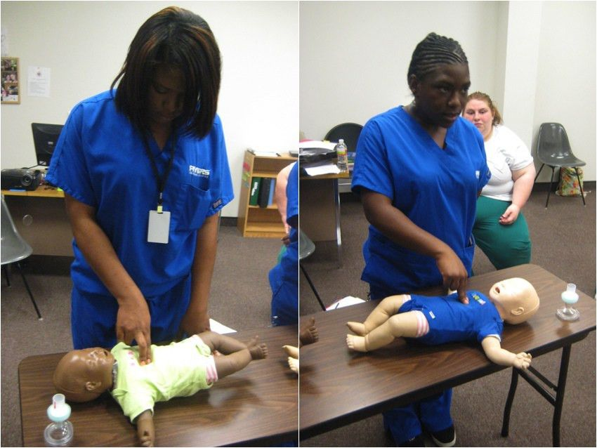 Medical Assistants practice in CPR Lab | Ayers Career College