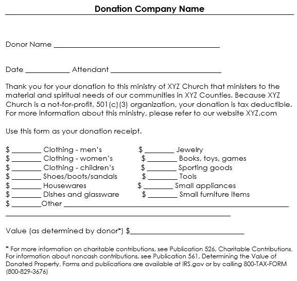 Non Profit Donation Receipt Template | Template Design