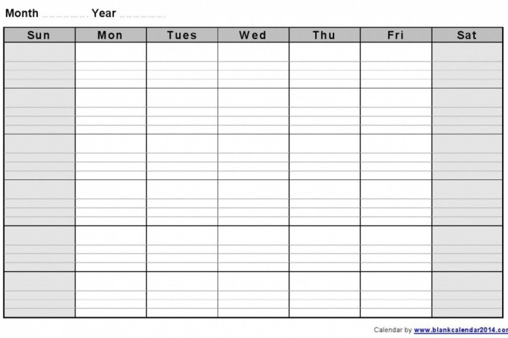 Printable Monthly Calendar Sample. Blank Calendar Template – Free ...