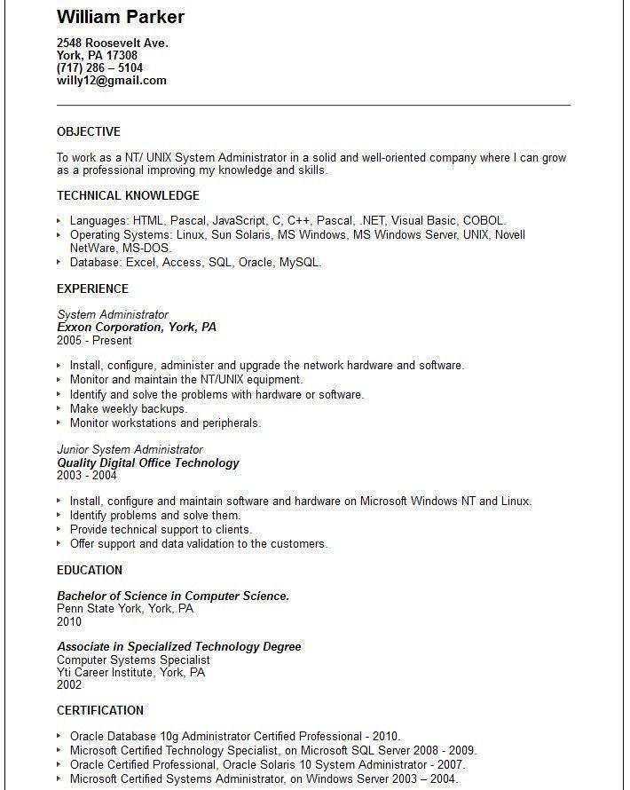 System Administrator Job Description. System Administrator Job .