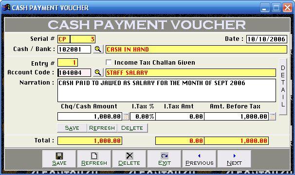 Cash Payment Voucher images