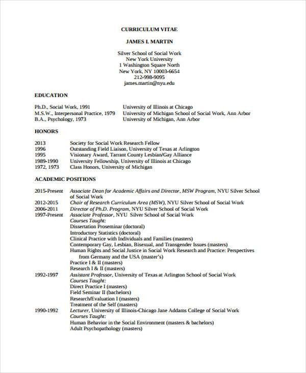 Social Worker Resumes - 8+ Free Word, PDF Format Download | Free ...