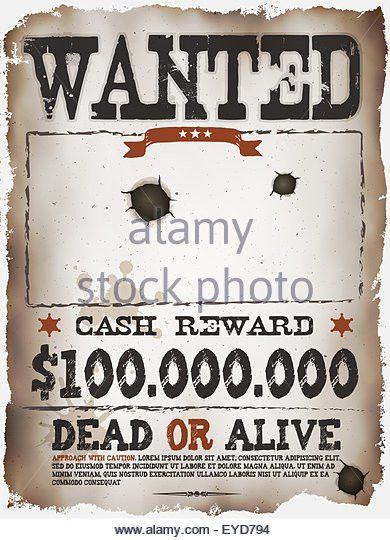 Wanted Poster Template Stock Photos & Wanted Poster Template Stock ...
