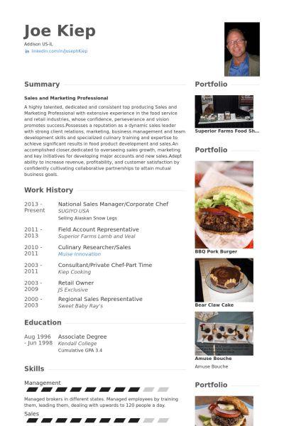Chef Resume samples - VisualCV resume samples database