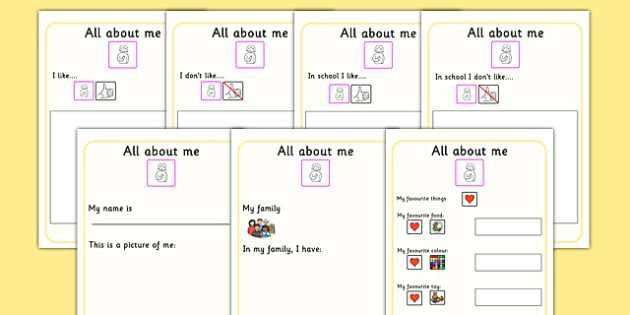About Me Book - ourselves, SEN, booklet, writing template