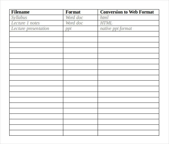 Content Inventory Template – 12+ Free Word, Excel, PDF Documents ...