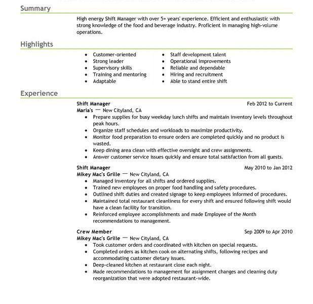 Chic Restaurant Manager Resume Sample 14 Assistant Restaurant ...