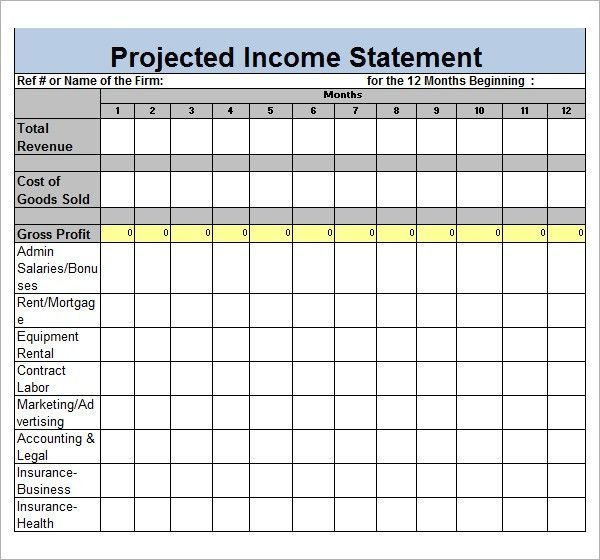 Sample Income Statement Template - 9+ Free Documents in PDF, Word ...