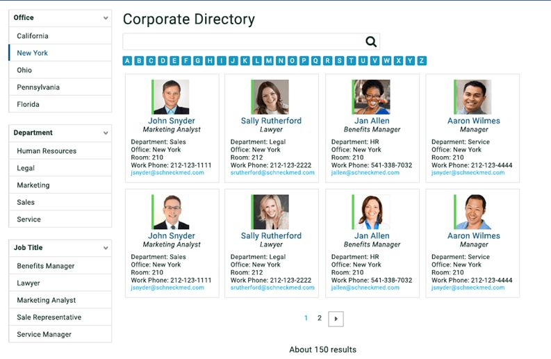 Build a Corporate Directory with SharePoint Search | Sharegate