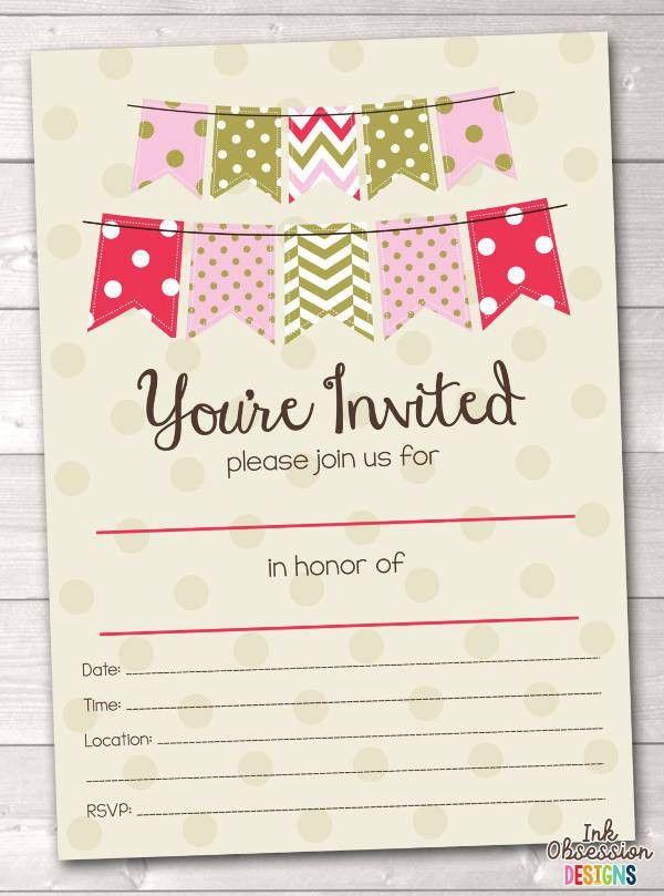 7+ Blank Party Invitations - Free Editable PSD, AI, Vector EPS ...