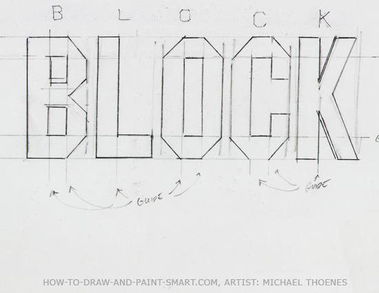 Draw 3D Block Letters | designer s kick