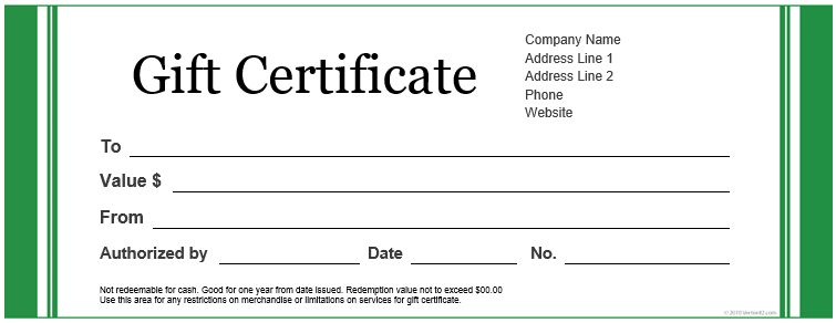 20 Printable Gift Certificates | Certificate Templates