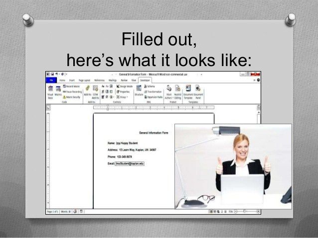 How to create a simple, fillable form using Microsoft Word
