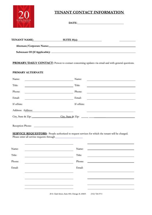 Tenant Information Sheet Template. landlord information forms ...