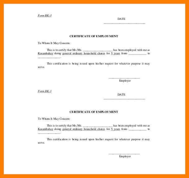 4+ request for certificate of employment sample | joblettered