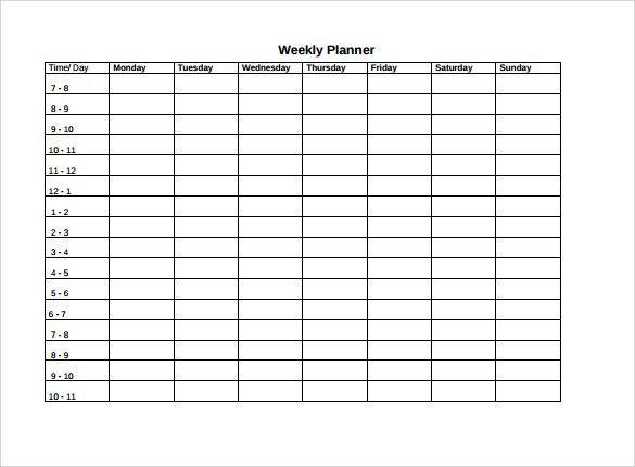 Weekly Agenda Sample - 9+ Documents PDF, Word