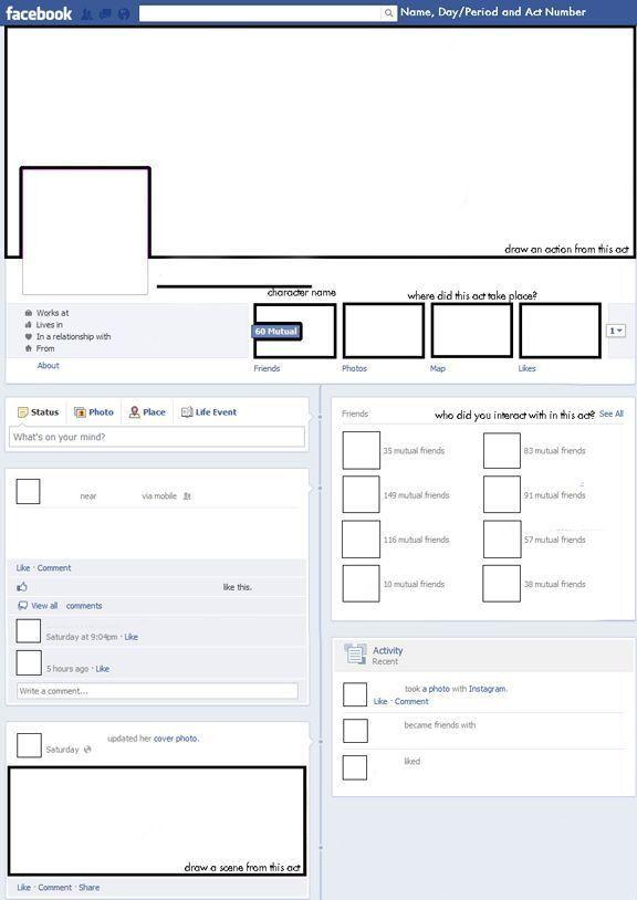 Blank Facebook Template | cyberuse