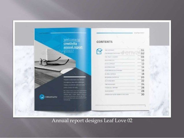 Annual Reports Templates by Leaf Love