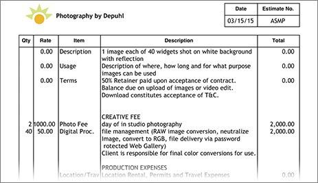 Best Pricing Strategy for Photographers - ASMP