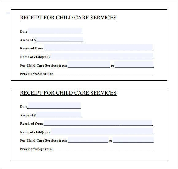 Printable Receipt For Services - Template Examples