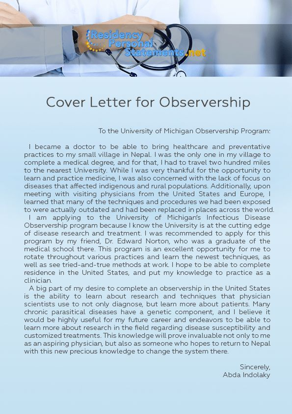 Useful Tips on Writing a Cover Letter for Observership