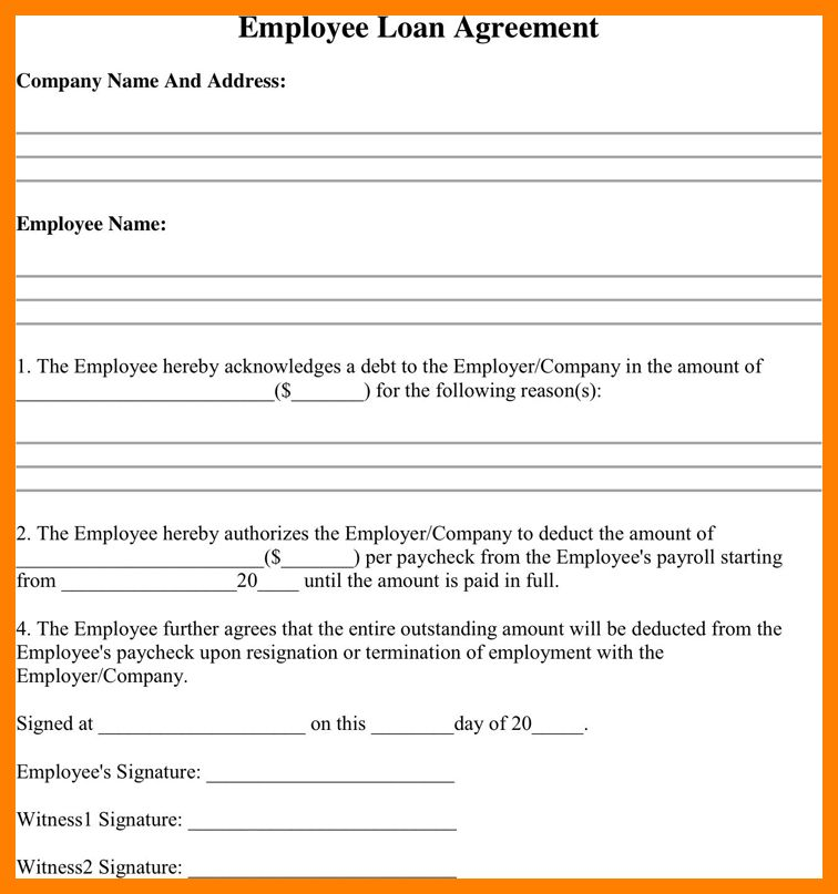 9+ employee loan application form | packaging clerks