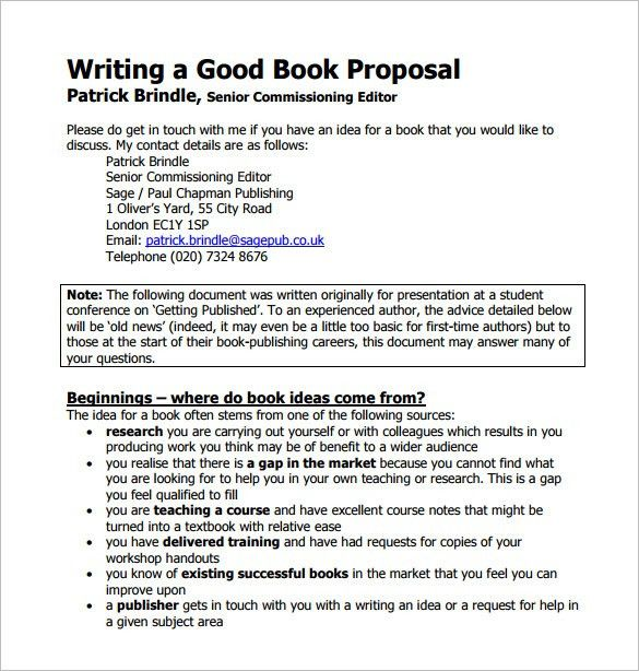 Book Proposal Template – 11+ Free Word, Excel, PDF Format Download ...