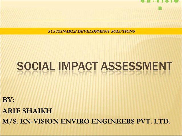 Social impact assessment