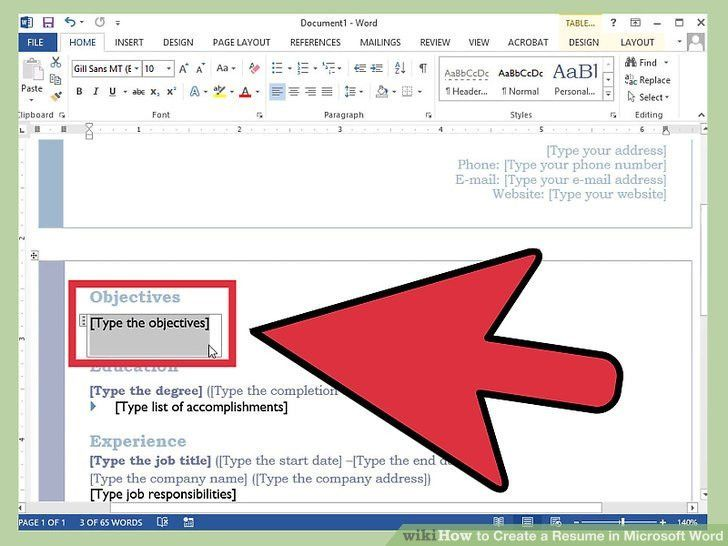 How To Do A Resume On Microsoft Word | haadyaooverbayresort.com