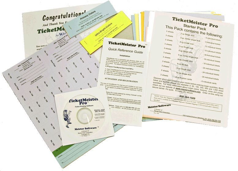 Raffle Ticket Software | Raffle Ticket Paper |Chinese Auction Cards