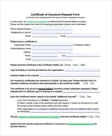 Delivery certificate form form of subscription certificate ex 41 sample certificate of liability insurance forms 6 free yadclub Gallery