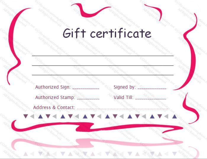 12 best Gift Certificate Template images on Pinterest | Free gift ...