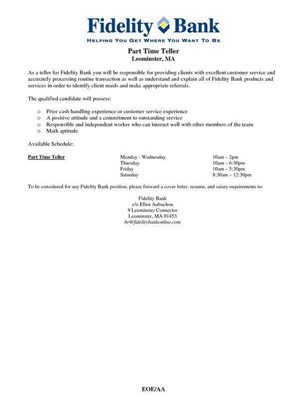 Bank Teller Resume Sample No Experience | Free Resume Templates