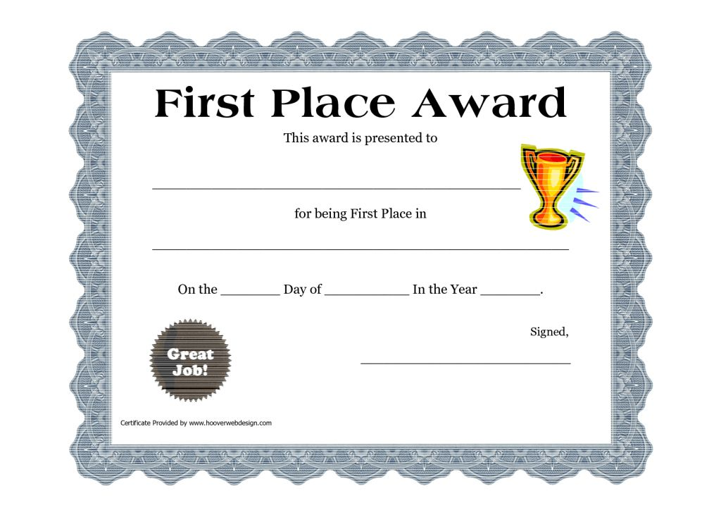 Printable Certificate PDFs | Certificate Templates