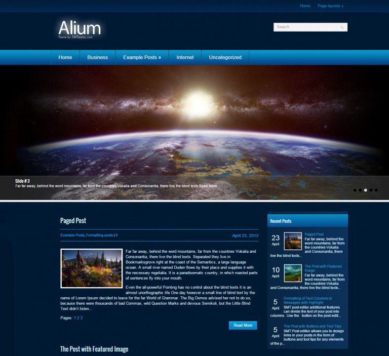4 Best Space Wordpress Templates & Themes | Free & Premium Templates