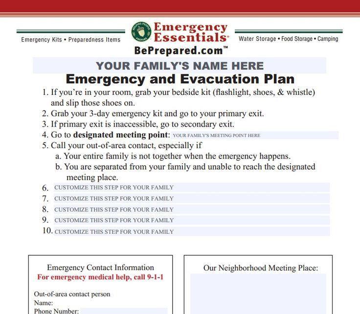 73 best EMERGENCY FAMILY PLAN images on Pinterest | Emergency kits ...