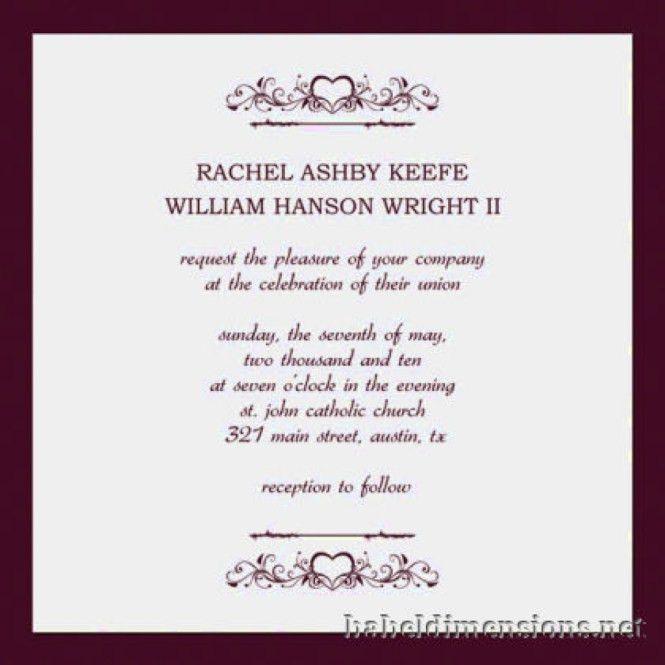 Wedding Invitation Formats | PaperInvite