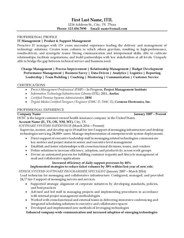 Resume Examples | Professional Progressions