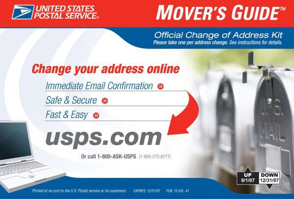 Americans File Changes of Address Online-And Select Retail ...